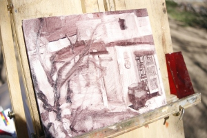 plein aire sketch class