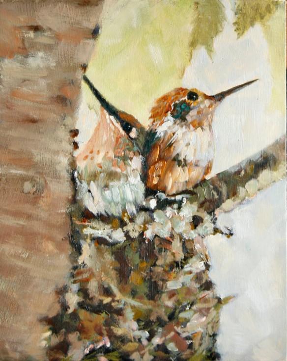 Baby Hummingbirds- Leslie Miller
