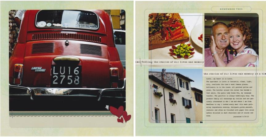 2 page digi spread Lucca,Italy